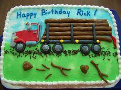 log truck birthday cake