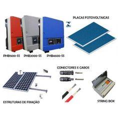 Kit micro usina solar/fotovoltaica 15,60 kWp- 220V/380V- PHB - R Luz Solar, energias Suprimentos e serviços.