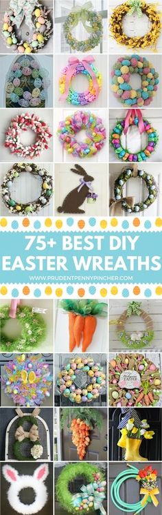 Give your front door look a cheery and colorful makeover for spring with these DIY Easter wreaths. There are DIY Easter bunny wreaths, floral wreaths, Easter egg wreaths and more to choose from. Easter Activities, Easter Crafts For Kids, Easter Ideas, Easter Decor, Easter Centerpiece, Bunny Crafts, Easter Table, Easter Party, Holiday Crafts