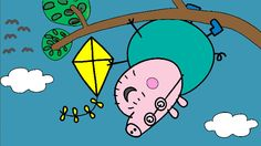 Peppa Pig Coloring Pages for Kids ► Peppa Pig Coloring Games ► Daddy Pig Up a Tree Coloring Book