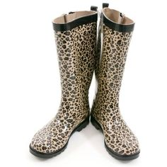 Shiny Baby Leopard Printed Ladies Tall Sporty Rubber Rain Boot Black Combo Combo 10 >>> You can find more details by visiting the image link. (This is an affiliate link and I receive a commission for the sales) #Outdoor
