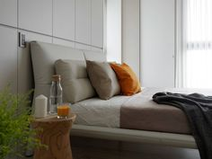 Bedroom done in earthy color palette