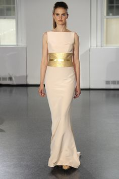 Romona Keveza Bridal Fall 2014 - Gold & pink