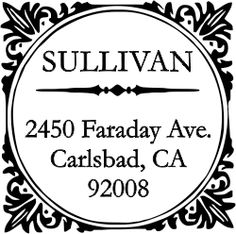 Sullivan Square Address Stamp - Simply Stamps