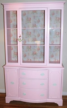 Hey, I found this really awesome Etsy listing at https://www.etsy.com/listing/124361451/pink-china-cabinet-made-for-my-customer