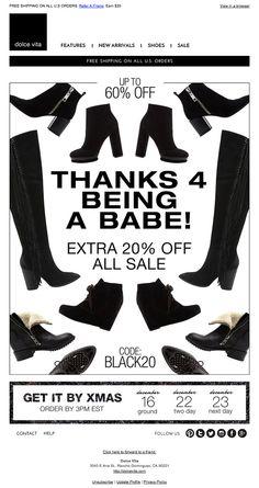 Refer A Friend, Order Up, Shoe Sale, Black Friday, Thankful