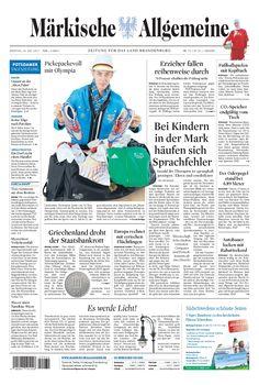 Dienstag, 24. Juli 2012 - Die Olympioniken aus Brandenburg » http://www.maerkischeallgemeine.de/cms/beitrag/12355307/17796240