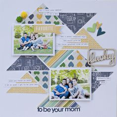 Created by design team member Katie Rose with our Daylight kit + add-on Baby Scrapbook Pages, Kids Scrapbook, Scrapbook Paper Crafts, Scrapbook Albums, Scrapbook Cards, Paper Crafting, Scrapbook Layout Sketches, Scrapbook Designs, Scrapbooking Layouts