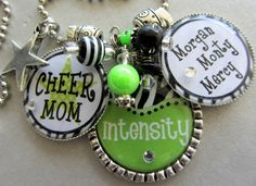 Cheer Mom Personalized NAME Silver Pendant Necklace Or Keychain - All Star Cheer, Cheerleader, Cheer Squad, Back To School. $30.00, via Etsy.