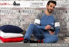 Pijamale Barbati Bumbac 100% Interlock, Brand Charachter, 'Ocean Spirit' Blue Man Character, Spirit, Ocean, Lady, Tees, Collection, Design, Babydoll Sheep, T Shirts