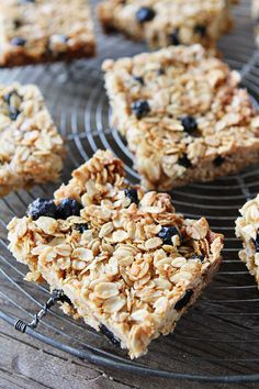 Coconut and Blueberry Granola Bars - The Vegan Food Blog