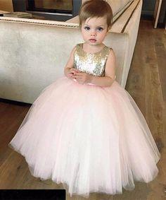 45e4fc8c8ac Lovely Pink Flower Girl Dresses Sequined Fabric Bodice Puffy Tulle Skirt  Handmade Bow Sash 2016 Sleeveless Custom Girls Pageant Dresses DS Expensive  Flower ...