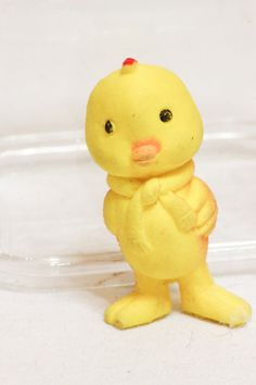 Vintage Yellow Chick Eraser Figure Little Easter by CabinOn6th