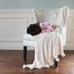 Shop for Aurora Home Pom Pom Faux Seal Fur Throw. Free Shipping on orders over $45 at Overstock.com - Your Online Blankets