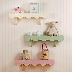 Scalloped Cottage Shelves - Multiple Colors