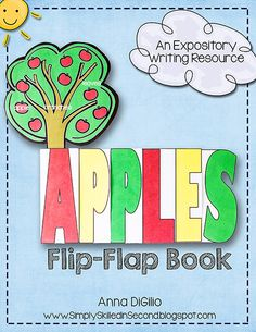 Here is a FUN TWIST on Apples!  Have some  Apple Fun with my newest Expository Writing Flip-Flap Book !$