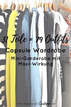 Frühlings und Sommer Capsule Garderobe - Mit 31 Teilen zu 79 Outfits. Mini-Garderobe mit Maxi-Wirkung