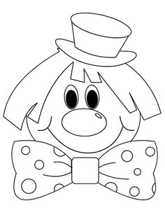 Clown-by-color - Easter Drawing For Kids, Art For Kids, Crafts For Kids, Coloring Pages For Kids, Adult Coloring, Colouring Pages, Coloring Books, Circus Activities, Clown Crafts