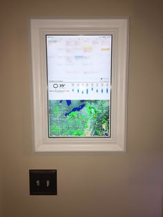 A Raspberry Pi display shows Tom Scott's family's schedules, the weather, and even counts down the time before the kids' school bus arrives.