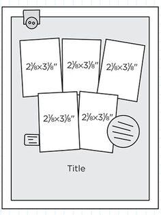Multiphoto Scrapbook Page Sketch