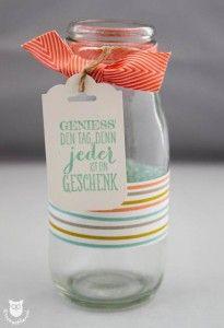 Stampin' Up! Mini-Vase mit Süße Sorbets Designerpapier