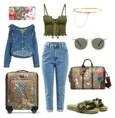 """""""Travelist"""" by jasminsangalyan on Polyvore featuring Balenciaga, Puma, Gucci, Karen Walker and Eddie Borgo"""