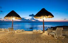 #Relajacion en cancun al anochecer