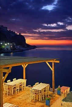 Taverna by the sea in Kos Island ~ Greece Island 2, Island Beach, Greece Islands, Amazing Sunsets, Paros, Santorini Greece, Plein Air, Greece Travel, Places To See
