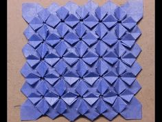twostep Hydrangea origami made from grid Origami Wall Art, Origami And Kirigami, Origami Paper Art, Cell Phone Hacks, Tesselations, Origami Videos, Diy And Crafts, Paper Crafts, Paper Wall Art