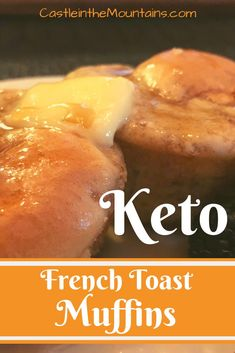 Fluffy Keto French Toast Muffins ~ net carbs per muffin. These are easy, comforting and will keep you full all day. Easy Keto Breakfast or snack. Keto Foods, Gourmet Recipes, Low Carb Recipes, Pan Cetogénico, French Toast Muffins, Starting Keto Diet, Snacks Sains, Low Carb Breakfast, Breakfast Ideas