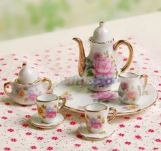 1-6-Dolls-House-Miniature-8pcs-China-Porcelain-Tea-Set-For-Barbie-Philip-Doll