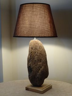 Driftwood Natural Lamp - Driftwood Decoration - Beach Decor - Handmade Lamp - Pebble Lamp on Etsy, $73.07 CAD