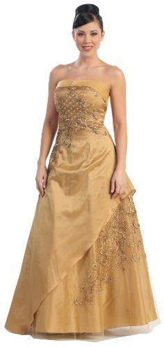 Strapless Elegant Prom Dress JR Long Gown #2409