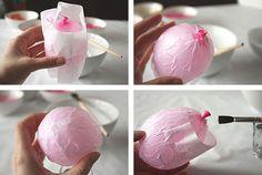 Manualidades con papel maché: huevos de Pascua