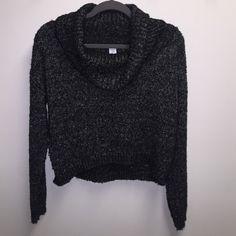Bar Iii Crop Sweater Shirt Bar III Bar III Sweaters Cowl & Turtlenecks