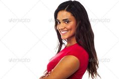 Young smiling woman, arms crossed ...  adorable, arms crossed, arms folded, attractive, beautiful, beauty, casual, charming, cheerful, confident, cool, cute, elegant, fashion, fashionable, female, girl, gorgeous, happy, isolated, joyful, lady, lifestyle, long hair, lovely, mixed race, model, modern, one, person, pose, posing, positive, pretty, side pose, sideways, single, smiling, standing, studio, stylish, top, trendy, woman, young