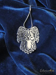 Papillon  silver dog jewelry  pendant and by SiberianArtJewelry, $75.00