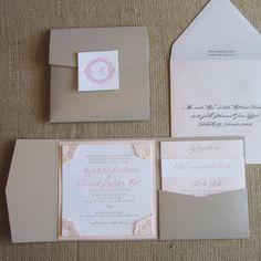Love this lace letterpress invitation by #ELV member apdesignco.com! @Alicia Rohan