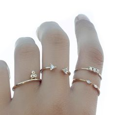 Set of 4 stacking rings - Delicate rings - Stacking rings - Stackable ring set of 4 - Stackable rings - Minimalist rings - Dainty rings by BYLIAJEWELS on Etsy https://www.etsy.com/listing/466958917/set-of-4-stacking-rings-delicate-rings