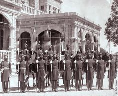 The soldiers of the Indian army who constitute the Viceroy of Indias bodyguard, Circa 1880
