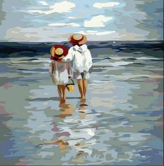 [Wooden Framed] Diy Oil Painting, Paint By Number Kit- See to Sea Inch. by digital oil painting >>> Read more at the image link. Paint By Number Kits, Paint By Numbers, Painting People, Children Painting, Greek Art, Beach Art, Diy Painting, Painting Abstract, Painting Trees