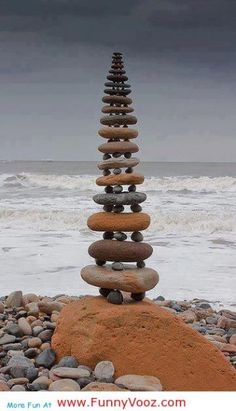 I love to build cairns...have never seen one like this...wait until I get to the North Shore again...I see a Lake Superior cairn in my future! ♥