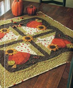 Fall's Finery Quilt Pattern Pieced/Applique CT