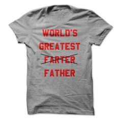 Worlds Greatest Farter ᐂ Father Tee ShirtProbably the most awesome Fathers Day t-shirt gift ever.  What was once the greatest farter in the world is now the greatest father.  Who could have seen that coming?fathers day, fart, father, farter, worlds greatest farter, funny, humor, fathers day, cute, gift, dad, papa