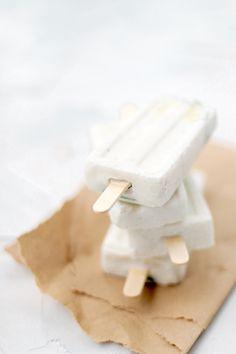Creamy dairy-free mojito popsicles by Rhiannon Bosse