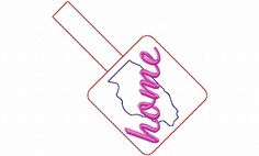 $2.95Illinois Home In The Hoop Snap Tab Key Fob Machine Embroidery Design