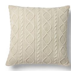 Ralph Lauren Home - Judson Cable-Knit Throw Pillow Sofa Couch, Couch Set, Couch Pillows, Euro Pillows, White Throw Pillows, Decorative Throw Pillows, Cable Knit Throw, Cool Couches, Sofa Inspiration