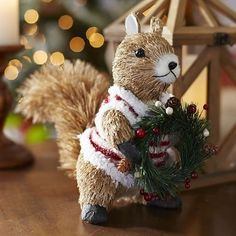 Natural Squirrel with Vest- so freakin' cute!