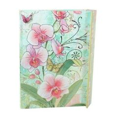 Punch Studio Embellished Diary Orchid Flower Butterfly Journal
