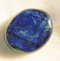 Dichroic Glass Cabochon  Gorgeous Blue Handmade by JewelryArtistry